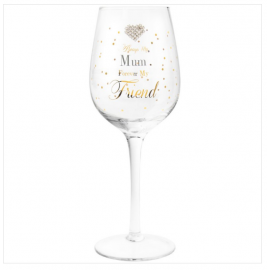MAD DOTS MUM WINE GLASS