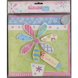 WITH LOVE HAND CRAFTED CARD X1