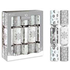 SILVER AND WHITE CRACKERS PACK 10