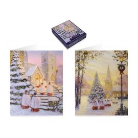 20 LUXURY BOXED CARDS - WISHING YOU ALL THE JOYS O