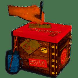 XMAS EVE BOX WOOD CRATE