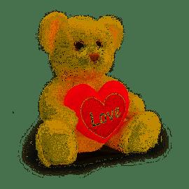 SV2148 50CM CREAM CHESTER BEAR WITH HEART