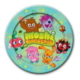 PAPER PLATES 9 INCH 8 PK MOSHI MONSTERS