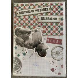 BIRTHDAY WISHES HUSBAND CODE 90 PK OF 6