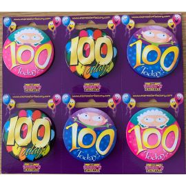 100 TODAY SMALL BADGES PK OF 6