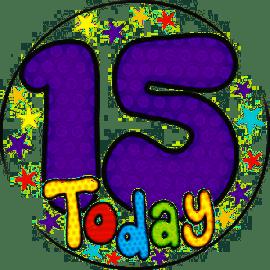 15 TODAY JUMBO BADGE