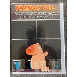 BIRTHDAY BOY HUMOROUS CODE 50 PK OF 6