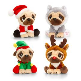 20CM PUGSLEY WITH CHRISTMAS OUTFITS