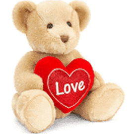 SV2132 30CM BROWN CHESTER BEAR WITH HEART