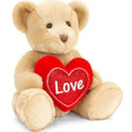 SV2133 40CM BROWN CHESTER BEAR WITH HEART