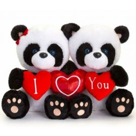 SV3359 20CM HUGGING PIPP THE PANDA WITH HEARTS