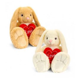 SV3371 35CM BUNNY WITH HEART 2 STYLES