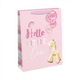 HELLO LITTLE ONE GIRAFFE LARGE GIFT BAG 6 PCS 5033601549444