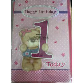 HAPPY BIRTHDAY 1 TODAY PK OF 6