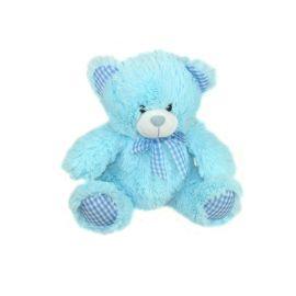 BLUE TEDDY WITH BLUE SCARF 10 INCH
