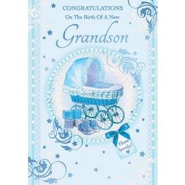 CONGRATULATIONS ON THE BIRTH OF YOUR GRANDSON CODE 50 PK OF 6