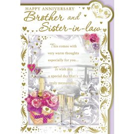 HAPPY ANNIVERSARY BROTHER & SISTER IN LAW CODE 50 PK OF 6