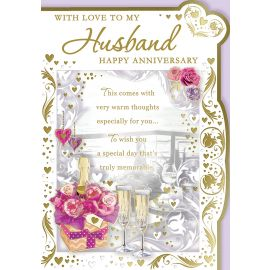 WITH LOVE TO MY HUSBAND HAPPY ANNIVERSARY CODE 50 PK OF 6