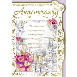 CONGRATULATIONS ON YOUR ANNIVERSARY CODE 50 PK OF 6
