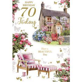 HAPPY BIRTHDAY 70 TODAY CODE 50 PK OF 6