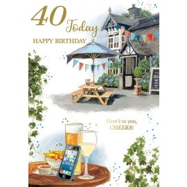 40 TODAY HAPPY BIRTHDAY CODE 50 PK OF 6