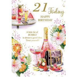 21 TODAY HAPPY BIRTHDAY  CODE 50 PK OF 6