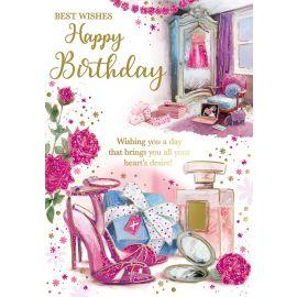 BEST WISHES HAPPY BIRTHDAY FEMALE CODE 50 PK OF 6