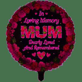 18 INCH ROUND IN LOVING MEMORY MUM