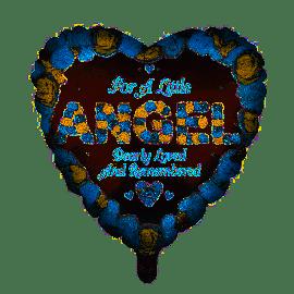 18 INCH HEART FOR A LITTLE ANGEL BLUE