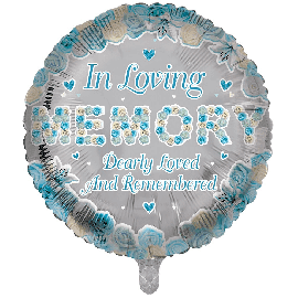 18 INCH ROUND IN LOVING MEMORY BLUE