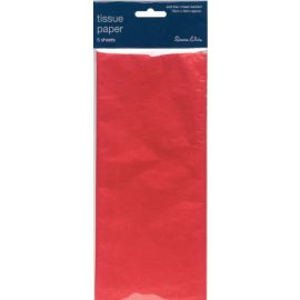RED TISSUE PAPER 5 SHEETS 12 TISSUE PACKS