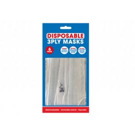 6 PACK 3 PLY DISPOSABLE MASKS