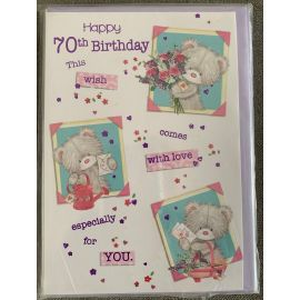 HAPPY 70TH BIRTHDAY CODE 50 PK OF 12