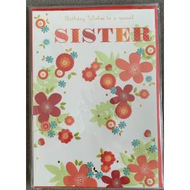 BIRTHDAY WISHES SISTER CODE 90 PK OF 6