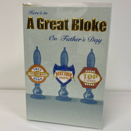 A GREAT BLOKE CODE 50 PK6 FATHERS DAY CARDS