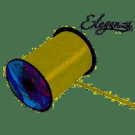 ELEGANZA POLY RIBBON 5MM X 500Y NO.62 CREAM