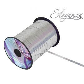 ELEGANZA POLY CURLING RIBBON 5MM X 25Y METALLIC SILVER