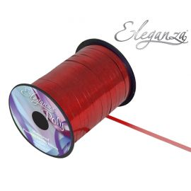 ELEGANZA POLY CURLING RIBBON 5MM X 250Y METALLIC RED