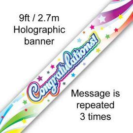 CONGRATULATIONS BANNER 2.7M