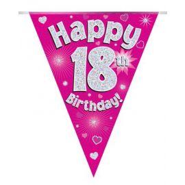18TH BIRTHDAY BUNTING PINK