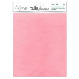 ELEGANZA TULLE FINESSE LIGHT PINK 3M X 3M