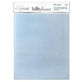 ELEGANZA TULLE FINESSE LIGHT BLUE 3M X 3M