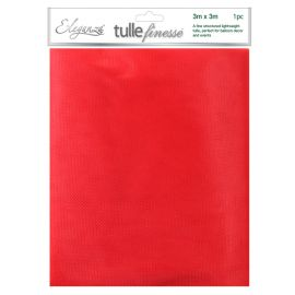 ELEGANZA TULLE FINESSE RED 3M X 3M