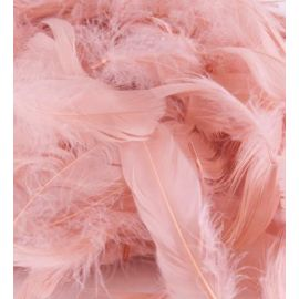 LOOSE FEATHERS MIXED SIZES 3-5 INCH ROSE GOLD