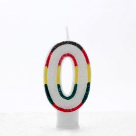 AGE 0 CANDLES MULTI COLOURED PK OF 6