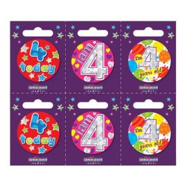 4 TODAY SMALL BADGE PK6