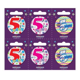 5 TODAY SMALL BADGE PK6