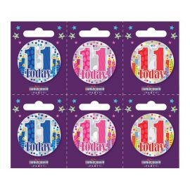 11 TODAY SMALL BADGES PK6