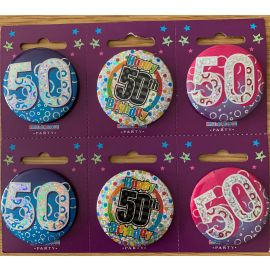 50 TODAY SMALL BADGES PK OF 6