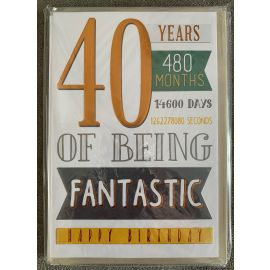 40 YEARS 480 MONTHS CODE 50 PK OF 6